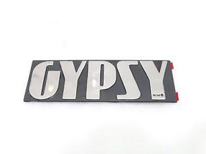 NEW SUZUKI GYPSY PLASTIC CHROME MONOGRAM BADGE EMBLEM #G238 @JUSTROYAL