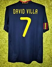 Spain National Team #7 David Villa 2010 2011 Away Football Soccer Shirt Jersey