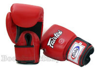 Fairtex Muay Thai Boxing Gloves BGV1 Breathable Red MMA K1 Training Sparring Air