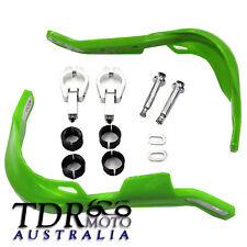 GREEN Kawasaki Taper Bar Hand Guards Solid Alloy Motorbike Enduro Dirt/Pit Bike