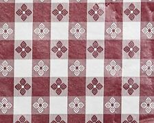 TRIMPLACE 54 Inch Vinyl Tavern Check Fabric With Non Woven Flannel Back (MAROON)