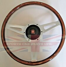 "New 13"" Wood Steering Wheel & Hub Adaptor Austin Healey Sprite Bugeye 1958-1963"