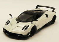 Pagani Huayra - White - Kinsmart Pull Back & Go Diecast Metal Model Car