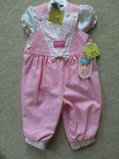Vintage OSHKOSH Baby Pink Dotted VESTBAK Overalls & Top...