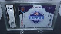 2011 Panini Prestige NFL Draft Cam Newton Rookie Card GMA Graded NM-MT+ 8.5