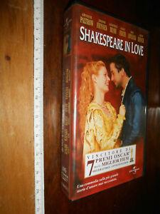 """vhS-videocassette- """"Shakespeare in Love"""" John Madden 1999 Collezione Originale"""