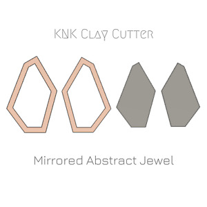 Mirrored Abstract Jewel Clay Cutter • Jewellery & Earring Makers Tools