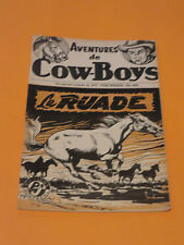 1950's PULP AVENTURES DE COW-BOYS #402 EDITIONS POLICE JOURNAL FREE SHIPPING
