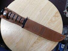 Mossberg BPM Combat Knife w/ United States Marine Corps Leather Sheath
