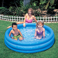 "Intex Inflatable Pool 45 x 10"" Kids Swimming Pools Outdoor Water Fun Play Blue"