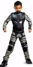 NEW GI JOE Size SMALL 6 Boy Army Soldier Costume with MUSCLES ROADBLOCK THE ROCK