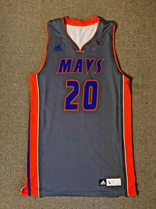 ADIDAS MAVS BASKETBALL JERSEY #20 Mens Size Large L Mavericks - Gray/Orange/Blue