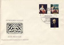 Ersttagsbrief DDR MiNr. 2195-2197, Staatliche Kunstsammlungen Dresden, Galerie A
