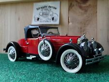 Franklin Mint 1928 Stutz Blackhawk Boattail Speedster Red 1:24 Scale Diecast Car