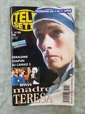 89) TELESETTE ITALIAN MAGAZINE N 14/1998 GERALDINE CHAPLIN LITTIZZETTO BIGNARDI