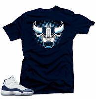 Shirt to match Jordan 11 Navy Win Like 82- Bull 11 Navy  Tee