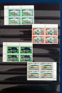 QATAR 1966-1972  22 BLOCKS OF 4  MNH **