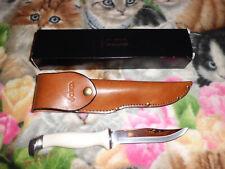 """Cutco Hunting Knife #1769 White, Straight Edge, """"Brand New In Gift Box"""""""