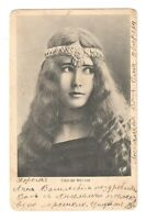 Cleo de Merode Long Hair Vintage postcard French Dancer Antique Postcard /137