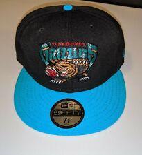 VANCOUVER GRIZZLIES New Era Fitted Hat Cap 7 3/8 NBA Hardwood Classics Blue Blk