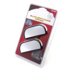 2x Ajustable Adhesivo Visión Trasera Auxiliar Espejo Gran Angular para Coche