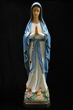 "32"" Our Lady of Lourdes Blessed Mother Virgin Mary Catholic Statue Sculpture"