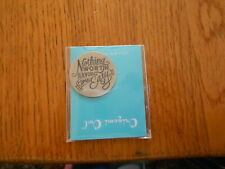 (new) Nothing Worth Having Comes Easy/Svr Origami Owl Living Locket Plate Large