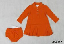 Polo Ralph Lauren NWT Baby Girls' Pleated Polo 2-Piece Dress Bloomer Size 12Mos