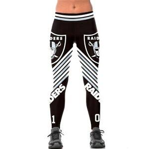 LAS VEGAS RAIDERS OAKLAND RAIDERS Women's Yoga Pants Tights Football Team Logo