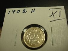 1902 H - Canada - Silver Five cent - Circulated nickel - Nice Coin -