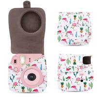 Protective Camera Case Bag+Shoulder Strap for Fujifilm Instax Mini 8/8+/9(White)