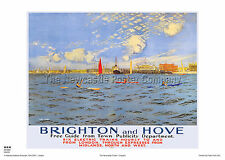SUSSEX BRIGHTON HOVE VINTAGE POSTER RAILWAY TRAVEL RETRO HOLIDAY ADVERTISING