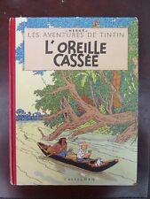 Tintin  - Hergé - L'Oreille cassée - 4ème plat B8 - 1953 - Feuillage bleu - BE!