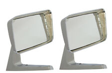 Motamec Classic Car 09 Side Wing Mirror x2 Chrome Steel Square American Style