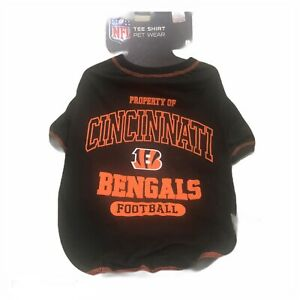 "Cincinnati Bengals NFL Dog Tee Shirt Size Large 20-24"" Officially Licensed."