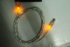 LED leuchtendes Universal USB Kabel Stecker GELB beleuchtet farbig vier Farben