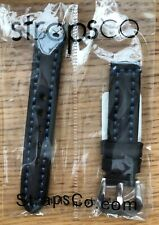 StrapsCo Thick Vintage Leather Watch Band Strap w. Heavy Duty Contrast Stitching