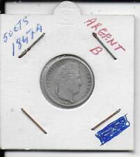 50 centimes louis-philippe 1er  1847a argent