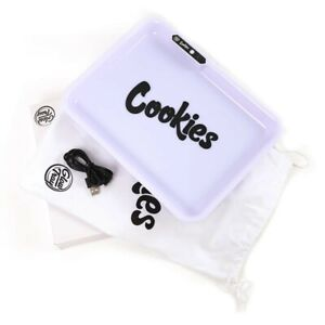Cookies LED Rolling Tray Color Changing White Glow tray - Box included Brand New