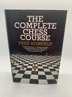 The Complete Chess Course Fred Reinfeld 1959 HC DJ Book Doubleday Grandmaster