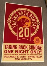 Taking Back Sunday Irving Plaza Poster 12/17/18 Tbs20 Tell All Your Friends Nyc