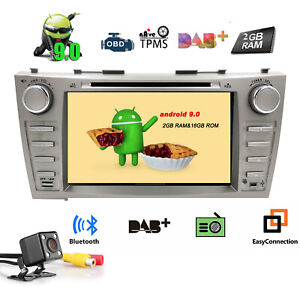 """for Toyota Camry Aurion Android 9.0 8"""" Car DVD Player Stereo Radio GPS NAV +Cam"""