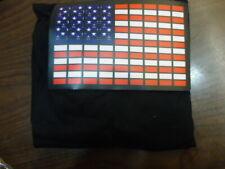 American Flag LED Light Up Black Tee Shirt Short Sleeved