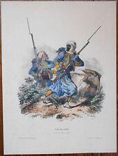 Lithographie originale -Type Mlilitaire - Tirailleurs - H.Lalaisse - Napoléon