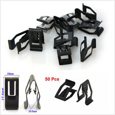 J83 50PCS Metal Black Rivets Fastener Push Clips Clip for Car Dashboard Console