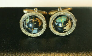 Tateossian Globe Cufflinks in Sterling Silver with Semi Precious Stone