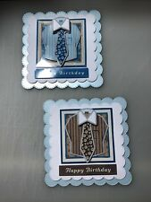 2 x Decoupage Pictures of Shirt & Tie Birthday Theme Toppers