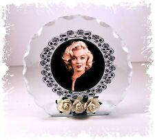 Marilyn Monroe Valentine Cut Glass Round Plaque Limited Edition ~1
