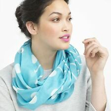 "Imported AQUA Dot Infinity Fashion Scarf 100% Polyester 26"" Width x 62"" Around"