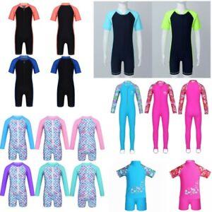 Kids Girls Swimsuit Swimwear Rash Guard Suit UV 50+ Protection Surfing Beachwear